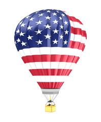 USA flag balloon