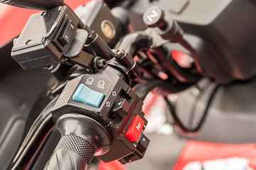 ATV Gearbox Lever Shift Closeup