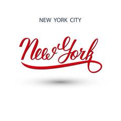 New York city handwritten logo. Vector illustration.