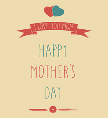 Hand Drawn Happy Mother's Day poster