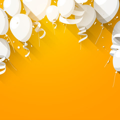 Celebrate background with flat balloons.