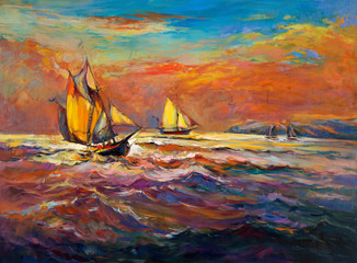 Ocean and ship