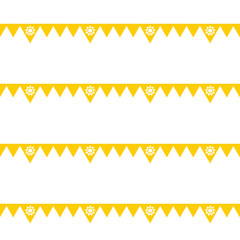 Summer flag seamless pattern
