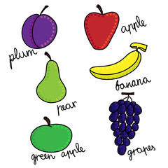 Fruits Hand Drawn