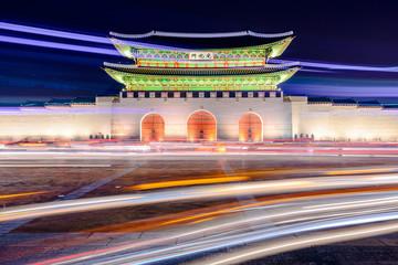 Gwanghwamun Gate at Gyeongbokgung Palace in Seoul, South Korea