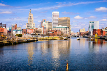 Providence, Rhode Island River Skyline