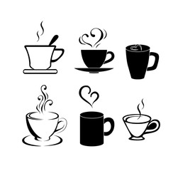 Vector set of coffee and tea design elements
