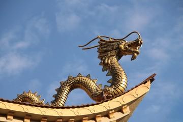 Asiatischer Drache auf dem Dach