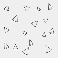monochrome minimalistic pattern of cone or triangle  shapes