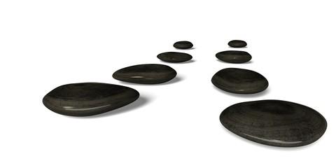 Zen-like. 3D. Pebble Stone Path