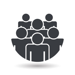 Crowd of people - icon silhouettes vector illustration