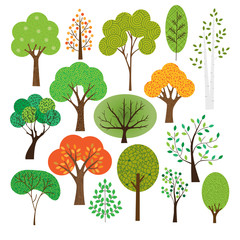 Seasonal trees graphics