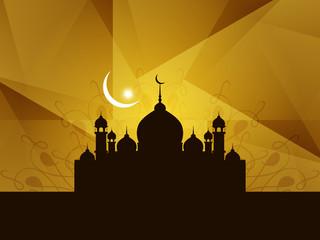 Beautiful background design for Islamic festival Eid.