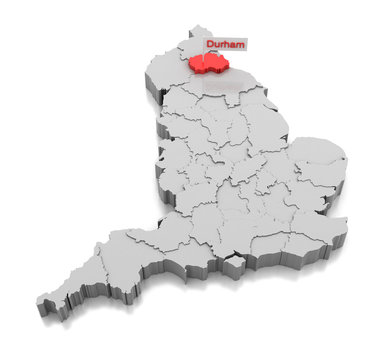 Durham county in England