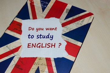 Do you want to study English message on a note