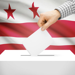 Ballot box with US state flag - Washington, D.C.