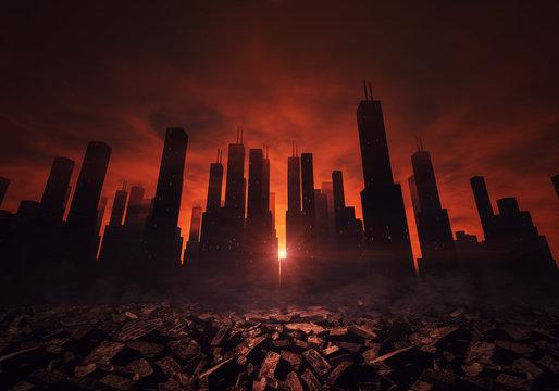 City and ruins