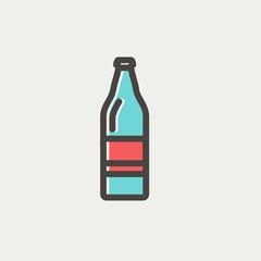 Soda bottle thin line icon