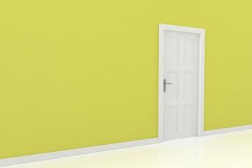 3d rendering of a door
