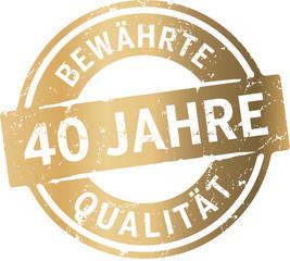 Siegel Gold 40 Jahre bewährte Qualität