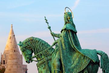 Budapest. Hungary. Bud's fortress. Monument to Saint Ishtvan.