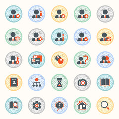 Set of web icons for business, e-commerce and marketing.
