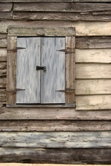Weathered Wood Doors and Lock