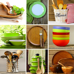 collage of different wood and organic utensils