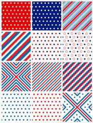 USA patriotic seamless pattern