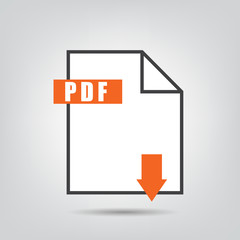 PDF icon isolated vetor illustration