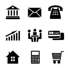 Набор векторных бизнес иконок