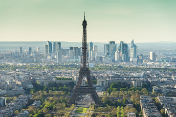 Foto op Plexiglas Panoramafoto s Tour Eiffel