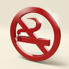 Segnale vietato fumare