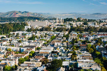 View from Tank Hill Park, in San Francisco, California.