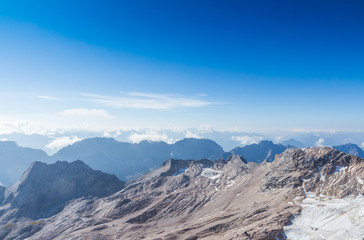 The mountain view at Top of Germany, Zugspitze