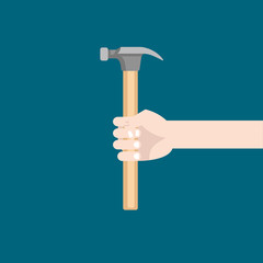 hammer in hand flat illustration.jpg