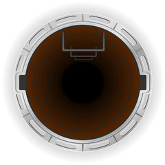 open sewer pit vector illustration