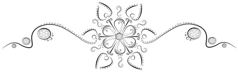 узор из цветка