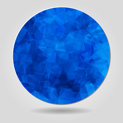 Abstract geometric blue circular shape from triangular faces for