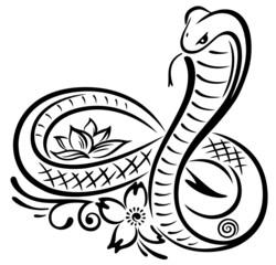 Große Schlange in Form einer Unendlichkeitsschleife. Infinity.