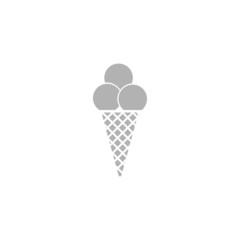 Simple ice cream icon.
