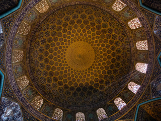Ceiling of the Loftollah mosque, Iran