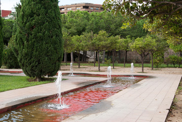 Turia City Park in Valencia, Spain