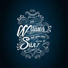 waves surf typography design
