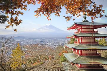 Keuken foto achterwand Tokyo Mt. Fuji with fall colors in Japan