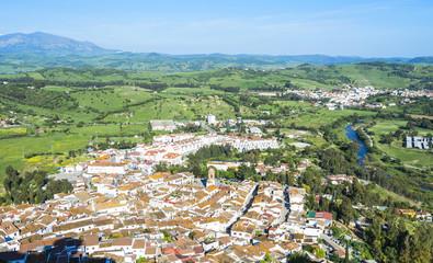 Panoramic view of Jimena de la Frontera, Cadiz, Spain
