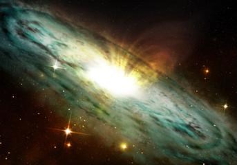 planetary nebula glowing into deep space