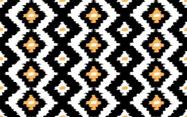 Ikat seamless vector pattern