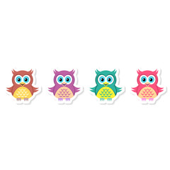 Owl labels collection