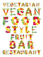 Words in vegan style